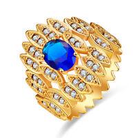 Wedding Band Gorgeous Sapphire Rainbow White Topaz Amethyst Silver Ring Beauty
