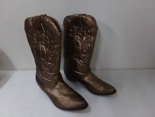 Womens Size 7 Coconuts Gaucho Cowboy Boots ~ Bronze?  Copper?