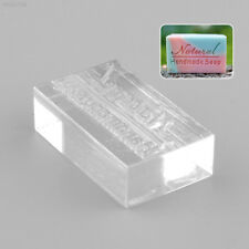 Nice Acrylic Natural Design Handmade Clear Soap Stamp Soap Mold Mould DIY Gift