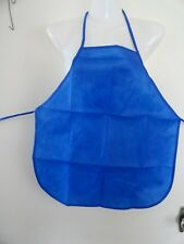 CHILDS-PLASTIC-APRON-IN-ROYAL BLUE -SIZE-5-6-7