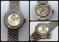 TISSOT-vintage lady watch-Dustproof-mechanical manual-cal.709.2-all S.Steel-rare
