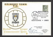 FOOTBALL GB 1972 Grimsby Town FC cover signed by the Club Manager Laurie McMenem