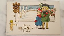 A Happy New Year to You Postcard Featuring Children Posted 1915
