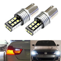 2 BA15S 382 P21W 1156 CANBUS ERROR FREE HIGH POWER BULBS XENON WHITE DRL REVERSE