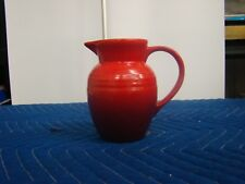 """LE CREUSET Small Stoneware Pitcher Red 5 1/2"""" TALL"""