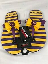 LSU Campus Footnotes Purple and Gold Sandals   Size:  Medium  Ladies Size 7-8