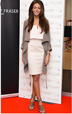 Lipsy Michelle Keegan Size 12 Nude Pink 2 in 1 Cami Pencil Dress Summer Party