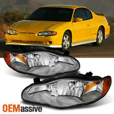 Fit 00 05 Chevy Monte Carlo Replacement Headlights Lamps Lights Left Right