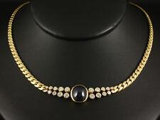 Wertvolles Brillant Saphir Collier 8,57ct (Gravur Juwelier Leicht 35,7g 750/- GG