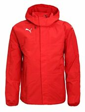 PUMA Mens Rain Jacket Veloce Windbreaker Hooded Raincoat Jacket Sports Top Red