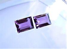 1 Amethyst  Baguette  Rechteck  14 x 10  mm 7,25 Carat lila violett