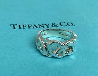 $275 Tiffany & Co. Sterling Silver 925 Paloma Picasso Triple Loving Heart Rings