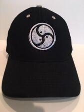 BDSM Bondage Dominatrix Dom Master Logo Hats Black with Silver Stitching All New