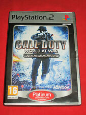 Call Of Duty  - World at War Final Fronts - jeu PS2 Complet