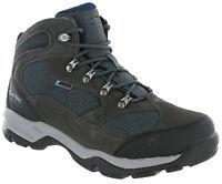 Hi-tec Mens Walking Boots Storm Waterproof Hiking Charcoal / Majolica Blue