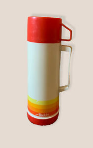"""VTG Aladdin Beverage Coffee 1 Pint Glass Lined Vacuum Butler Thermos 10"""". #A67"""