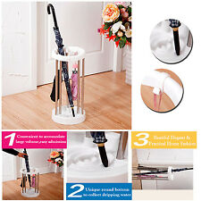 STYLISH UMBRELLA WALKING STICK STAND HOLDER W/ HOOKS DRIPPING TRAY STORAGE LARGE