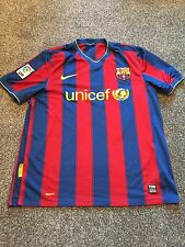 Barcelona Home Shirt 2009/10 Large Rare