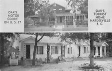 Hardeeville SC~Oaks Tourist Home & Motor Court~Wishing Well~1950s B&W Postcard