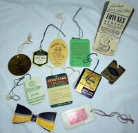 11 Vintage Clothing Household Advertising Price Tags 1930-1950s JC Penney Duxkin