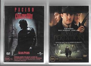 3 x Gangster DVDs, Carlito's Way, Road To Perdition, Goodfellas