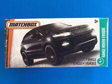 2017 Matchbox Power Grabs BLACK 2016 RANGE ROVER EVOQUE LUXURY 4WD  mint in box!