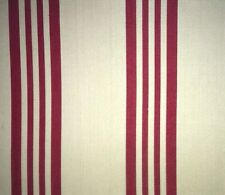 DESIGNERS GUILD Pencoys St Mawes Stripe Red Natural Cotton New Remnant