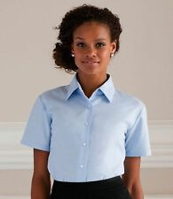Short Sleeve Business Collared Tops & Shirts for Women