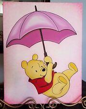 "Winnie the Pooh - Original Artwork - Acrylic Painting -14""x18"" Kids Room Decor"