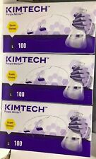 3 boxes Kimberly-Clark Purple Nitrile Exam Gloves 55083 Large (100ct Each box )