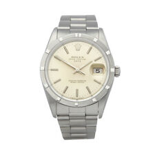 ROLEX OYSTER PERPETUAL DATE STAINLESS STEEL WATCH 15210 COM1652