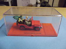 Miniature TINTIN la jeep WILLYS MB 1943 voiture au Pays de l'or noir figurine bd