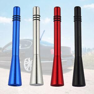 1Pc Car Stubby Short Antenna Aerial AM/FM Radio Mast+2 Styles Screw Accessories