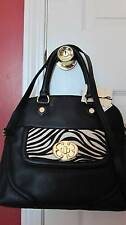 Emma Fox Genuine Leather Black Zebra Saranac Satchel/Crossbody EF035M13-NWT $308