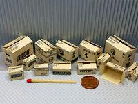 "13 Kartons ""italy"" in 1:24-1:25 für Diorama, Slotbahn, Ladegut, Werkstatt"
