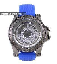 black diamond big motor sports ice out watch turbine master maxx blue strap
