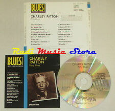 CD CHARLEY PATTON Pony blues BLUES COLLECTION 1993 DeAGOSTINI mc lp dvd vhs