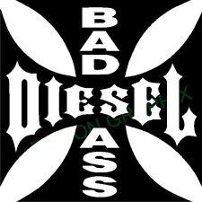 BAS A$$ Diesel vinyl decal/sticker maltese cross truck