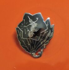 "Vintage Siam Niello Sterling Silver Brooch Pin Leaf Shape 5 grams Signed ""Globe"""