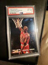 1993-94 Hoops Face to Face Michael Jordan Card #FTF10 PSA 6 EX-Mint