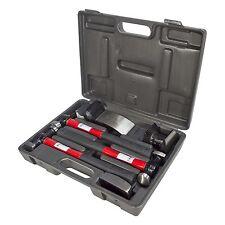7 PC Car Auto Body Panel Repair Tool Kit with Fibreglass Handles Beating Hammers