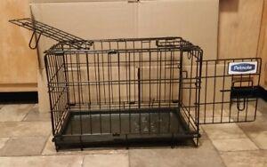 "Petmate 2 Door Training Retreat Wire Dog Kennel in Black, 19"" L X 11"" W X 13"" H"