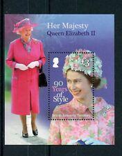 British Antarctic Terr BAT 2016 MNH Queen Elizabeth II 90th Bday 1v S/S Stamps