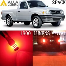 Alla Lighting LED Rear Turn Signal Blinker Light /Brake Bulb 3157 Red for Mazda
