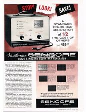 1963 Sencore CG126 Color Bar generator Television TV Vtg Print Ad