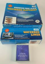 Vintage NOS Blue Magic Queen Waterbed Mattress, Liner, Fill & Drain Kit