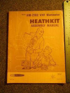 Heathkit Manual: VHF Wattmeter ~ Model HM-2102 ~ copyright 1972