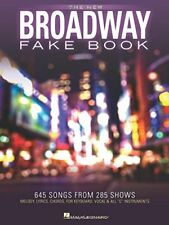 """""""The New Broadway Fake Book"""" 645 Songs from 285 Shows-C Instruments-New On Sale!"""