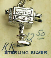 "VINTAGE .925 STERLING SILVER MOVIE CAMERA MOTION TV NETWORK PICTURE FILM ""TWA"""