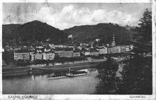 AK Sächsische Schweiz (Bad) Schandau mit Raddampfer gebraucht 1925
